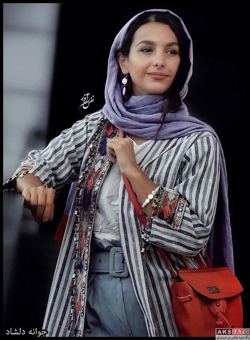 بازیگران بازیگران زن ایرانی جشنواره جهانی فیلم فجر  عکس های جوانه دلشاد در سی و هشتمین جشنواره جهانی فیلم فجر